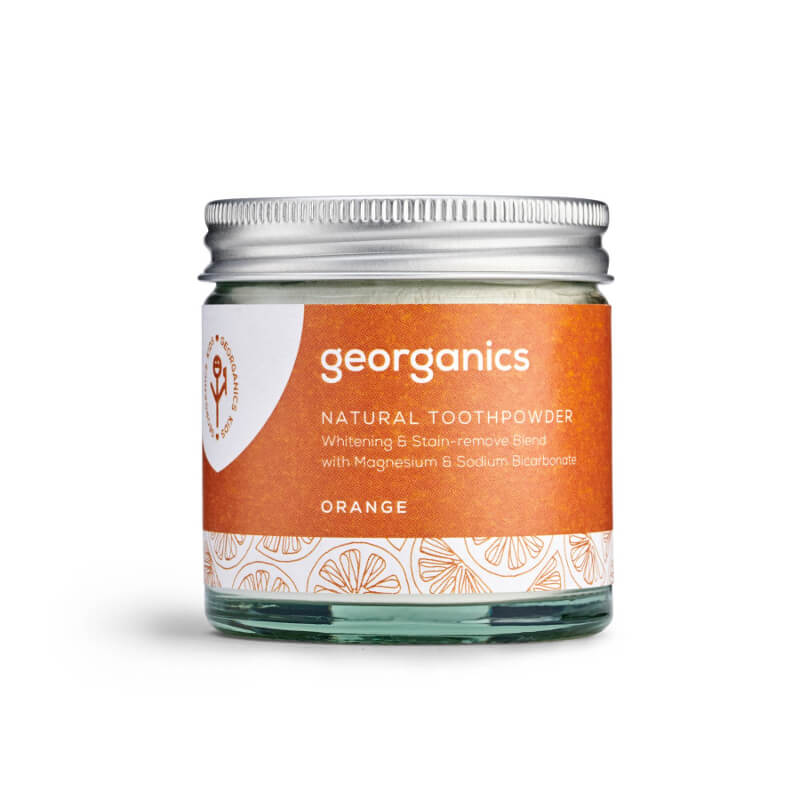 Blanqueador Dental Natural en Polvo – Naranja Georganics